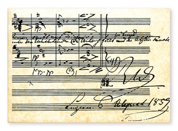 Postkarte Wagner - Tristan und Isolde