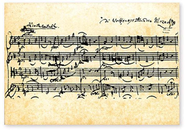 Postkarte Mozart - Streichquartett