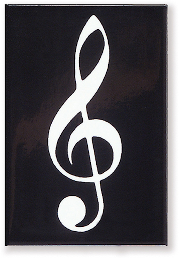 Magnet Violinschlüssel schwarz