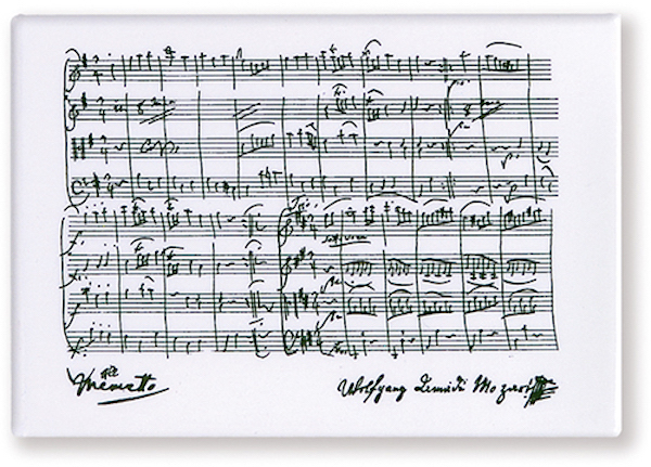 Magnet Mozart weiss
