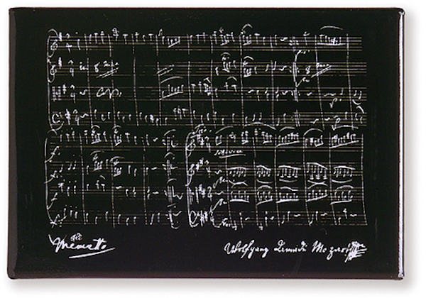 Magnet Mozart schwarz