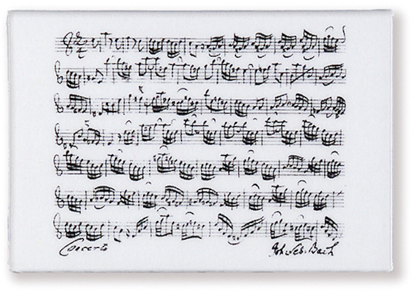 Magnet Bach weiss