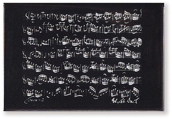 Magnet Bach schwarz