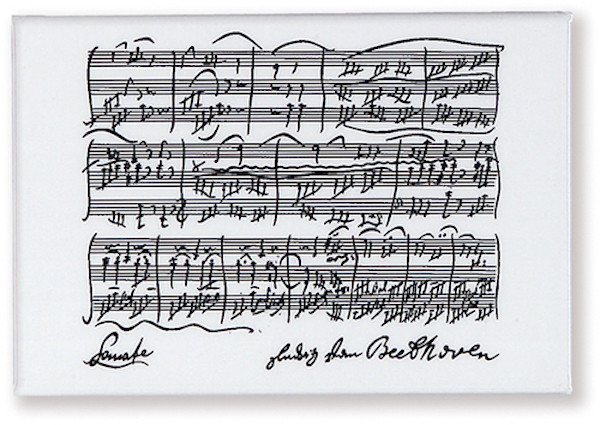 Magnet Beethoven weiss