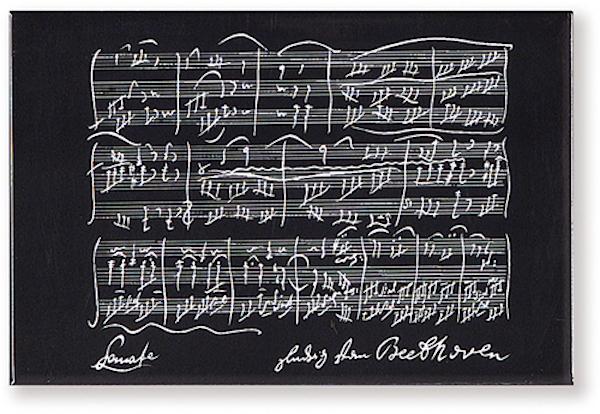 Magnet Beethoven schwarz