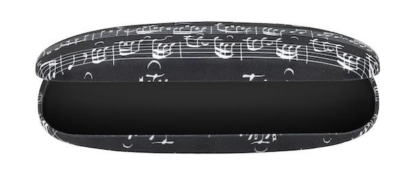 Brillenbox Notenblatt schwarz