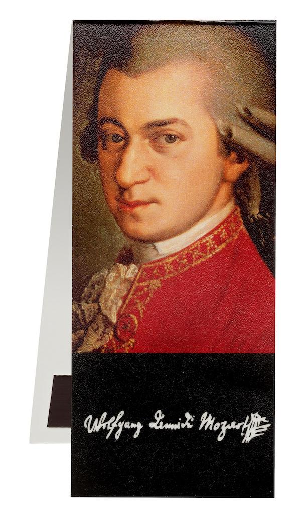 Lesezeichen Mozart Portrait magnetisch