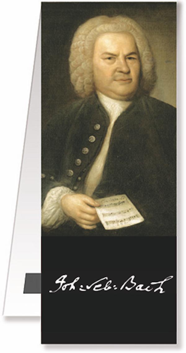 Lesezeichen Bach Portrait magnetisch