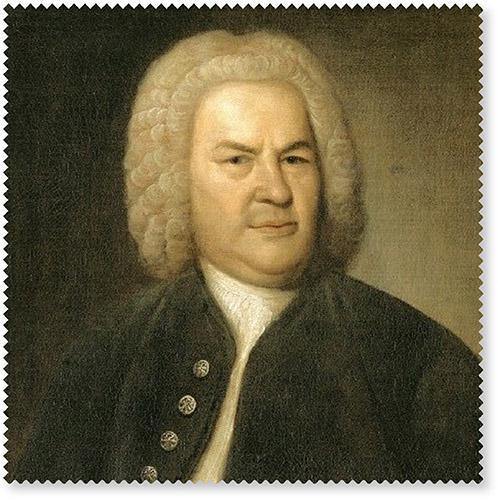 Brillenputztuch Bach Portrait