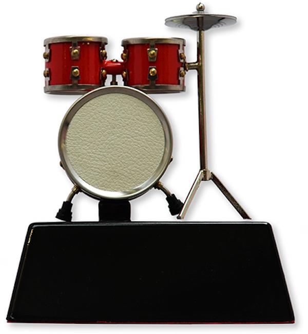Miniatur Schlagzeug auf Ständer