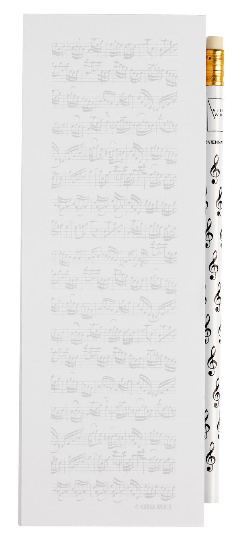 Notizblock Notenblatt midi magnetisch