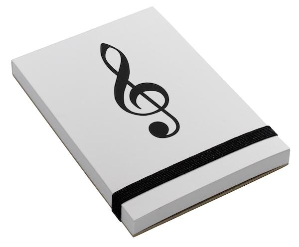 Notizblock Violinschlüssel A7