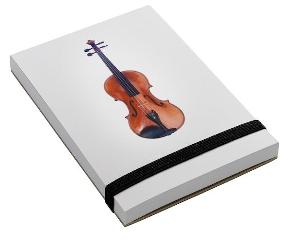Notizblock Geige A7