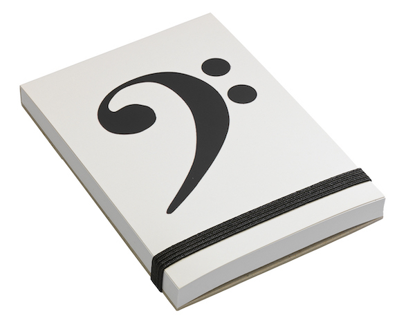 Notepad Bass-Clef A7