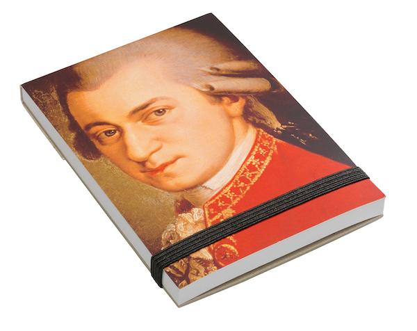 Notizblock Mozart Portrait A7