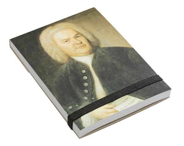 Notizblock Bach Portrait A7