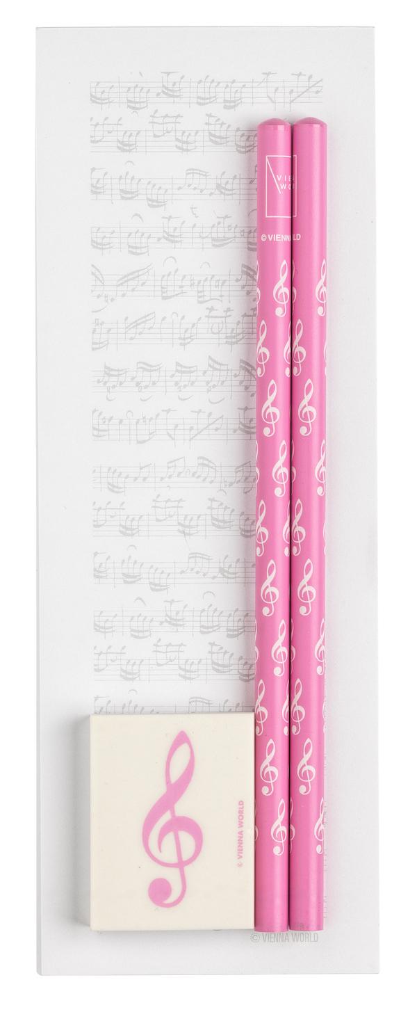 Notizblock Notenblatt midi rosa