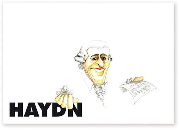 Postkarte Haydn Karikatur