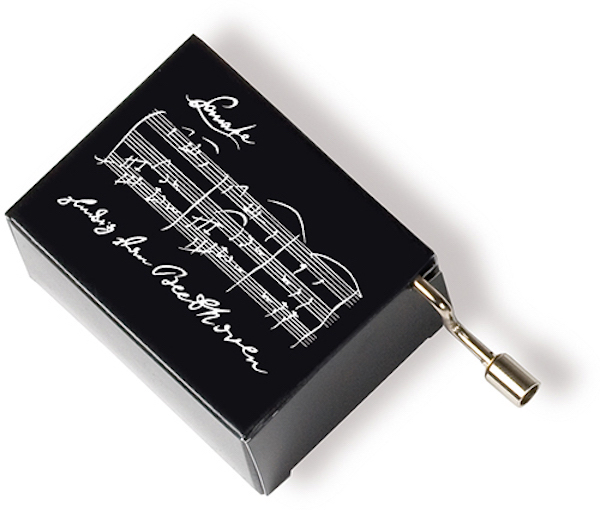 Musikbox Beethoven schwarz