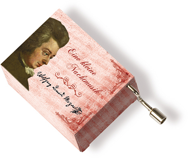 Musikbox Mozart rot
