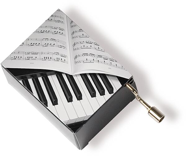 Musikbox Klavier/Notenblatt