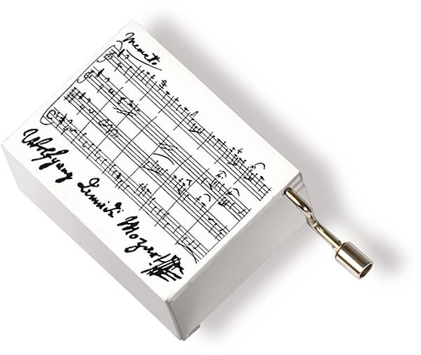 Musikbox Mozart weiss
