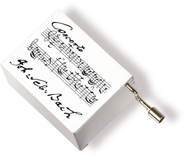 Musikbox Bach weiss