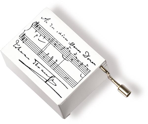 Musikbox Strauss weiss
