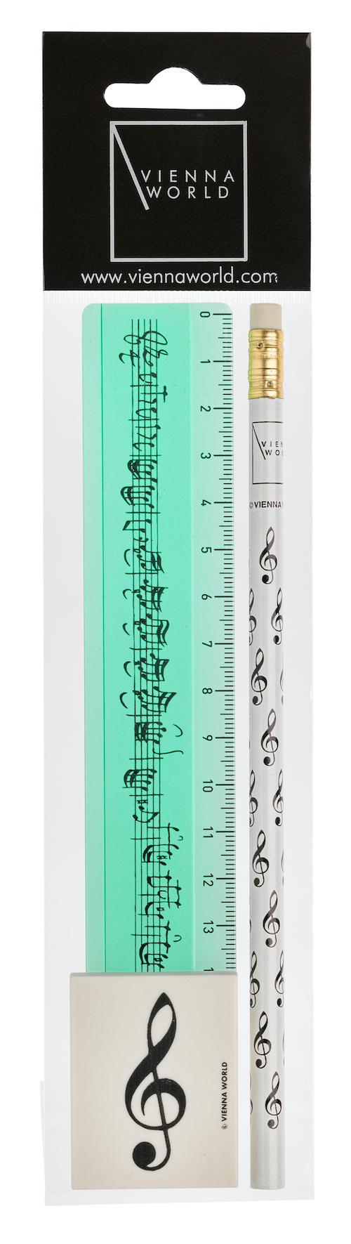 Schreibset Violinschlüssel grün 3-tlg