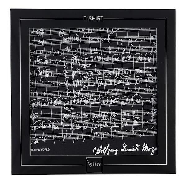 T-Shirt Mozart schwarz M