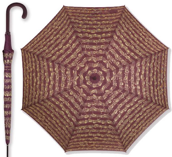 Regenschirm Notenblatt bordeaux
