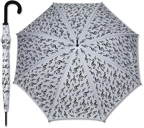 Regenschirm Violinschlüssel weiss