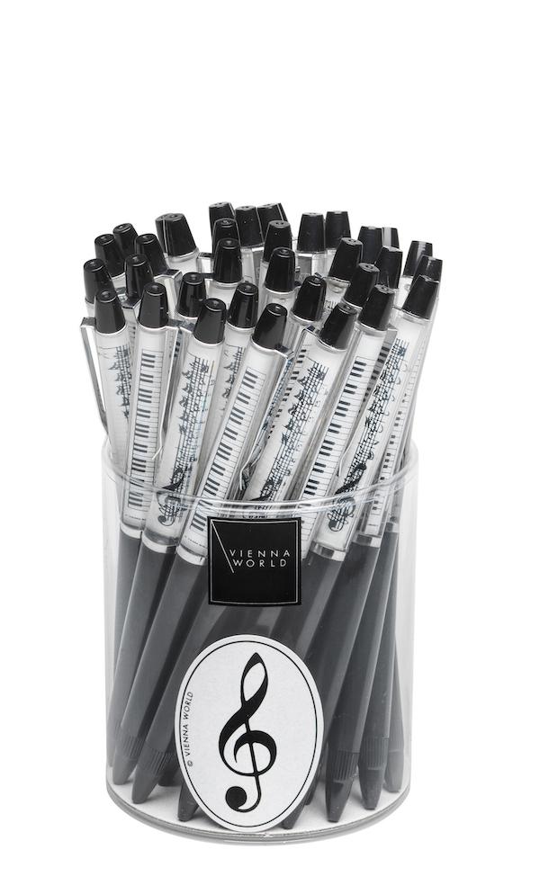 Kugelschreiberbox Notenlinie schwarz (36 Stk)