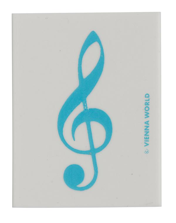 Radiergummi Violinschlüssel hellblau