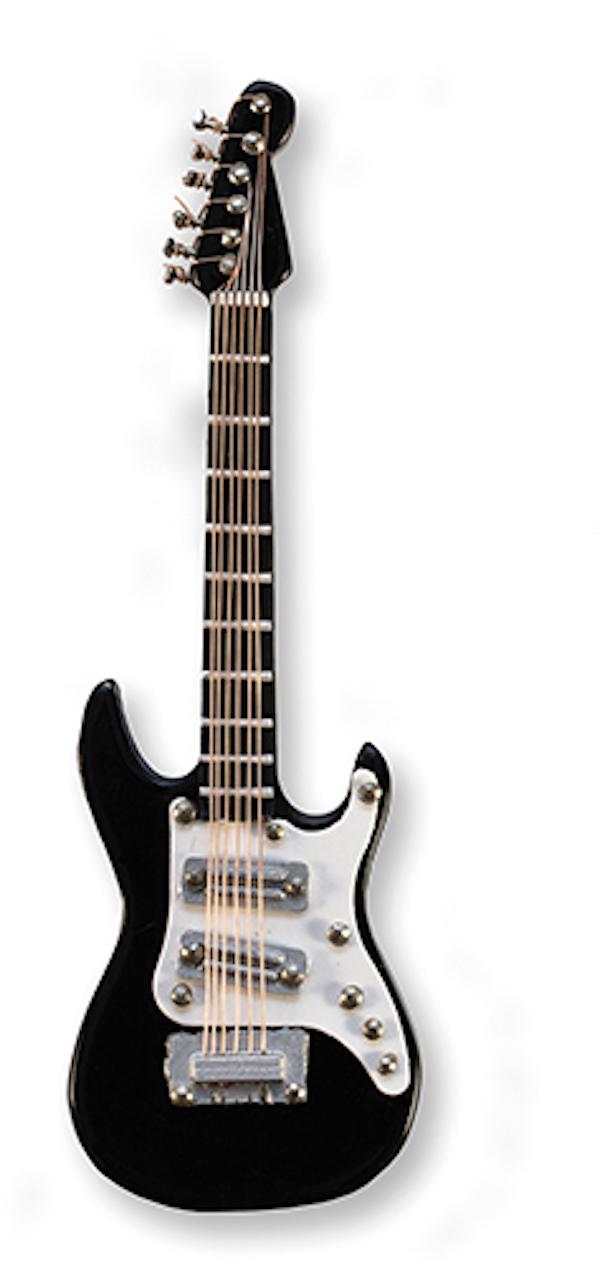 E-Gitarre schwarz magnetisch