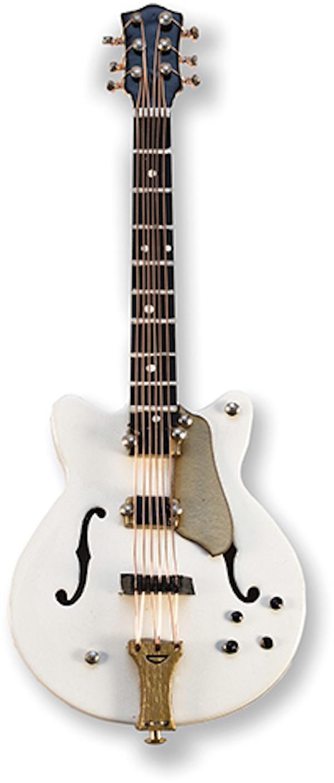 E-Gitarre weiss/gold magnetisch