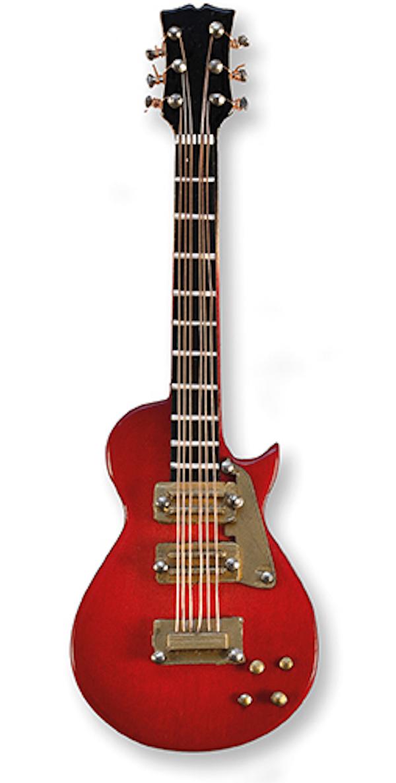E-Gitarre rot/gold magnetisch