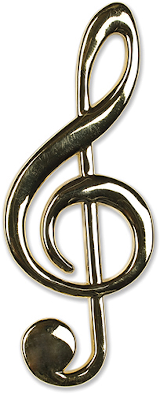 Violinschlüssel gold magnetisch