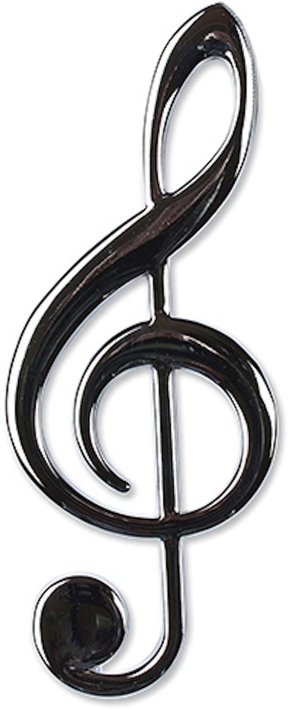 Violinschlüssel silber magnetisch