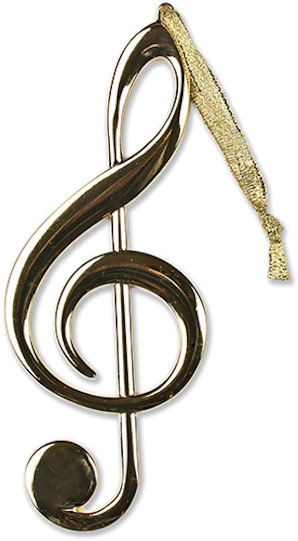 Anhänger Violinschlüssel gold