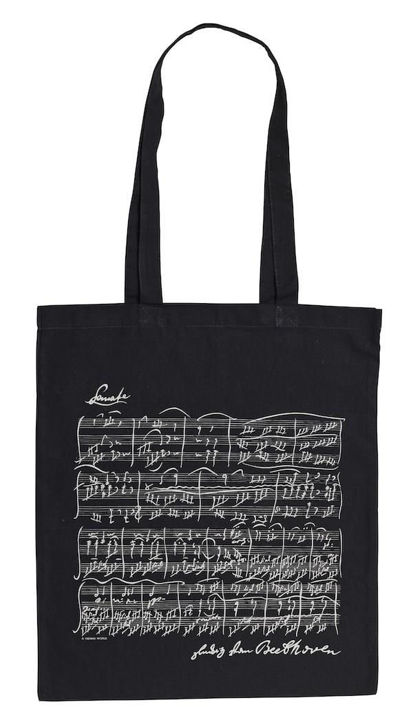 Tragtasche Beethoven schwarz lang