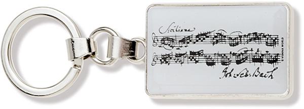Schlüsselanhänger Bach Noten