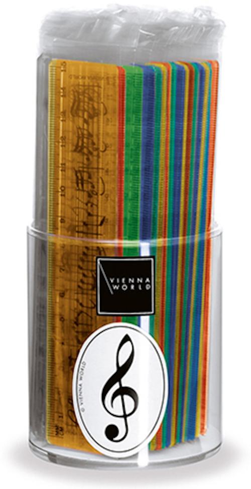 Linealbox Notenzeile sort. 15cm (44 Stk)