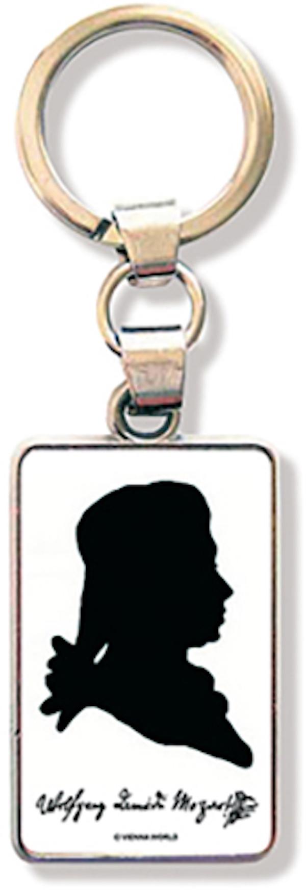 Schlüsselanhänger Mozart Silhouette