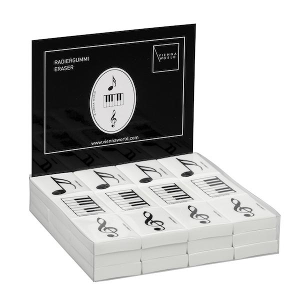 Radiergummibox Musik (36 Stk)