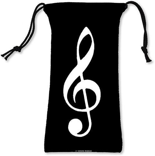Brillenetui Violinschlüssel schwarz