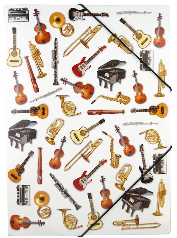 Gummispannmappe Instrumente