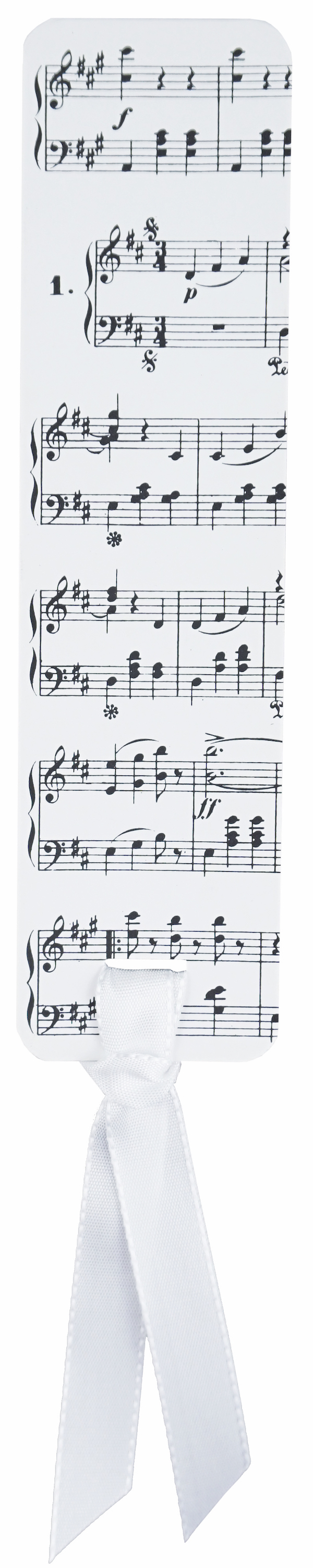 Lesezeichen Strauss Noten mit Band