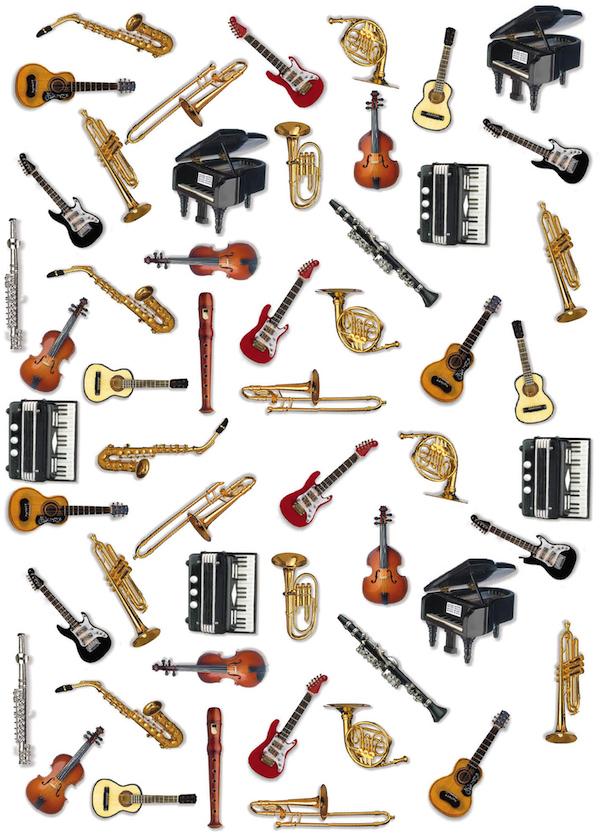 Geschenkpapier Instrumente