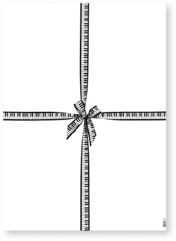 Geschenkpapier Tastatur/Masche